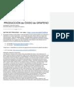 Grafito Producción + Óxido de Grafeno  (Go)