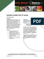 Soluble Textile Oils TX
