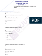 Ncert Solutions Class 11 Maths Chapter 5 Complex Numbers and Quadratic Equations