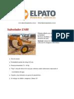 Subsolador ZA80 - El Pato Maquinarias