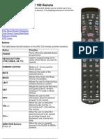 General Instruments XRC100 Remote