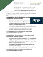 CELTA Descriptors 2015