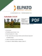 Subsolador ZA120 - El Pato Maquinarias
