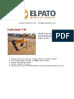 Subsolador Z45 - El Pato Maquinarias