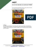 Procedimento para troca de óleo hidráulico Weber