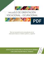 MODELO DE ORIENTACIÓN VOCACIONAL - OCUPACIONAL