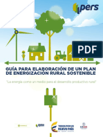 GUÍA PARA ELABORACIÓN DE UN PLAN DE ENERGIZACIÓN RURAL SOSTENIBLE.