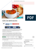 SOPA DE HIPÓCRATES - Remedios para el Alma