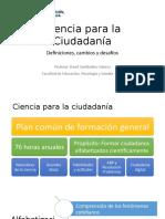 Ciencia para la ciudadanía - UFT