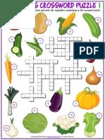 vegetables vocabulary esl crossword puzzle worksheets for kids