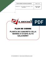 PLAN DE CIERRE PLANTA DE CONCRETO -VILLA MARINA IV ETAPA