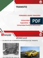 DIAPOSITIVAS TRANSITO especificaciones de diseño vehiculo