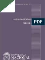 ¿Que tan nacional es la Universidad Nacional de Colombia?