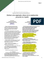 Motivar a los empleados chinos de la construcción.proyectos en Argelia