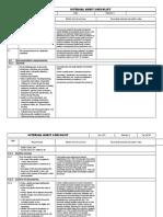 ISO 13485 Internal Audit Checklist
