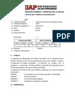 SILABO METODOLOGIA DEL TRABAJO UNIVERSITARIO
