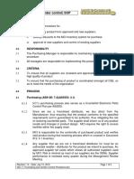 MCI 11 Purchasing and Vendor Control Procedure