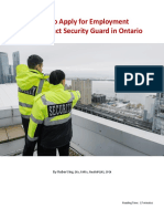 How to Apply for Employment as a Security Guard in Ontario