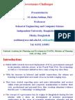 E-Governance Challenges 03-05-2010