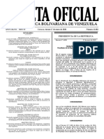 Gaceta Oficial Nro. 41802. Fijación del precio máximo de venta de arroz y harina