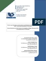 factores que intervienenen la deserción académica bolivia