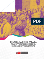 Politica Nacional Para La Transversalizacion Del Enfoque Intercultural Final