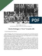 Heidegger un depredador sexual y académico