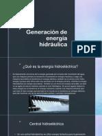 Generación de energía hidráulica
