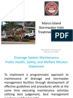 Marco Island Stormwater Inlet Treatment System - Feb. 3, 2020