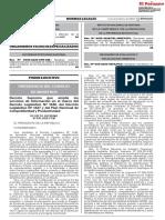 DECRETO SUPREMO N° 016-2020-PCM