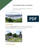 Lugares Turísticos Que Debes Visitar en Guatemala