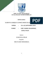 Kertas Kerja Karnival Kerjaya dan Pesta Buku 2018