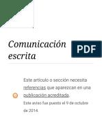 Comunicación escrita - Wikipedia, la enciclopedia libre.pdf