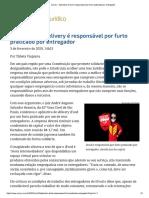 ConJur - Aplicativo iFood é responsável por furto praticado por entregador