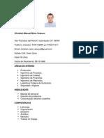 CV Ing. Christian Nieto