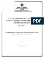 SELF LEARNING MATERIAL IN CONTEMPORARY PHILIPPINE ARTS FROM THE REGION