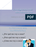 CATEQUESIS PRE-MATRIMONIAL