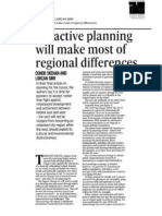 Regional planning to make most of differences