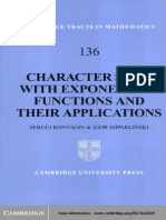(Cambridge Tracts in Mathematics 132 [i.e. 136]) Sergei Konyagin, Igor Shparlinski - Character Sums With Exponential Functions and Their Applications-Cambridge University Press (1999)