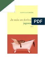 Dany Laferriere - Je suis un ecrivain japonais - 2008
