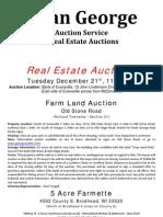 Old Stone Road & 5 Acre Farmette Auctions