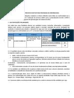 Edital BRASFELS 2020 - 1