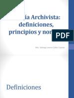 Tema 1  teoría archivistica definiciones y principios