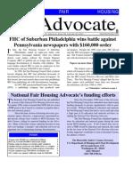 National Fair Housing Advocate - September 1999