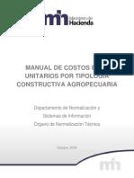 MANUAL DE COSTOS BASE UNITARIOS POR TIPOLOGÍA CONSTRUCTIVA AGROPECUARIA 2018