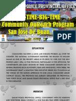 ONE-TIME-BIG-TIME Outreach Program [Autosaved].pptx