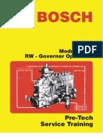 Bosch RW Governor Operation