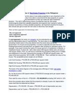 howtoestimatethevalueofrealestatepropertiesinthephilippines-110215095518-phpapp02.docx