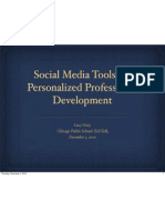 Social Media Tools for Personalized Professional Development   - CPS version