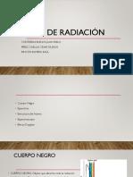 Leyes de radiación (TRANFERENCIA DE CALOR ).pptx